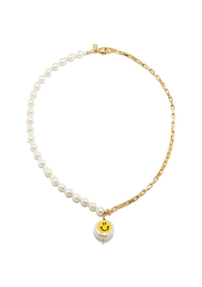 Joolz By Martha Calvo - All Smiles Pearl & 14kt Gold-plated Choker - Womens - Pearl
