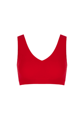 Chantelle Soft Stretch Red Padded Soft-cup Bra