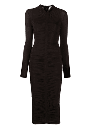 A.L.C. Ansel ruched pencil dress - Brown