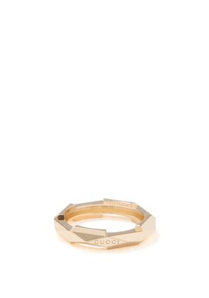 Gucci - Link To Love Studded 18kt Gold Ring - Womens - Yellow Gold
