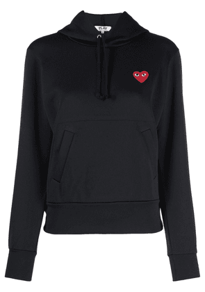 Comme Des Garçons Play heart-embroidered pullover hoodie - Black