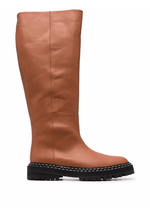 ATP Atelier knee high boots - Brown
