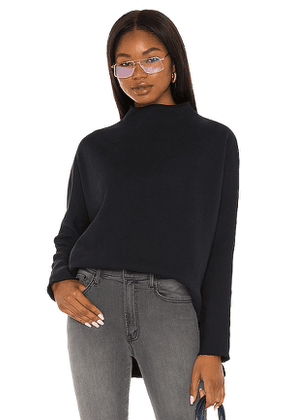 Frank & Eileen Funnel Neck Capelet in Navy. Size S, M.