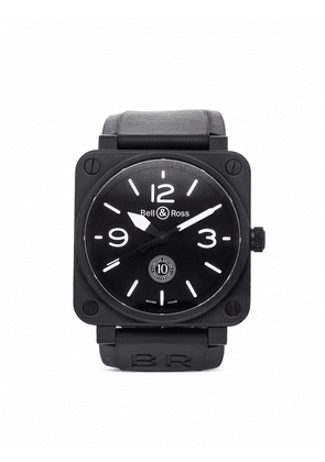 Bell & Ross 2016 pre-owned BR 01 10th Anniversary 46mm - Black