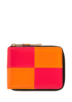 Fluo Squares Leather Wallet