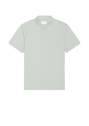 Melrose Place Brookside Polo in Sage. Size M, S, XL.