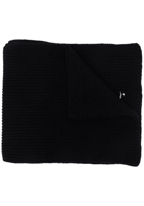 Off-White Hands Off logo wool scarf - Black