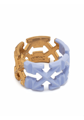 Off-White painted arrow ring - Gold