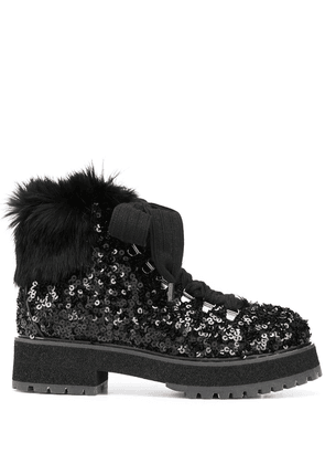 AGL sequinned ankle boots - Black