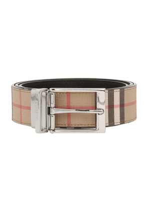 Reversible leather belt check