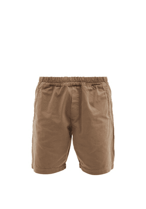 Folk - Assembly Elasticated Cotton-canvas Shorts - Mens - Brown