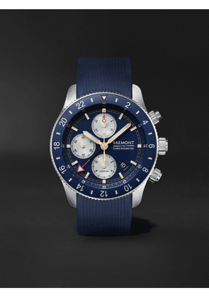Bremont - Supermarine Sport Automatic Chronograph 43mm Stainless Steel and Rubber Watch, Ref. No. S200 - Men - Blue