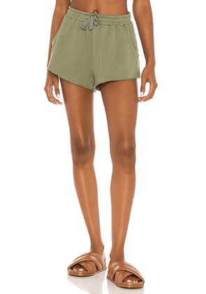 Lovers and Friends Everyday Terry Shorts in Olive. Size M, S, XL, XS, XXS.
