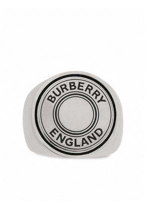 Burberry logo graphic signet ring - Silver