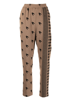 Cecilie Copenhagen Madison houndstooth trousers - 395