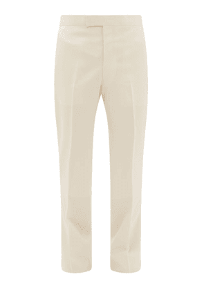 The Row - Isaac Tailored Wool-blend Twill Suit Trousers - Mens - Cream