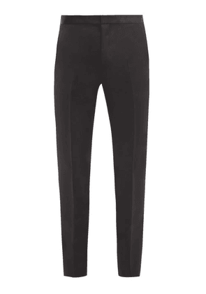 Givenchy - Satin-waist Wool-blend Twill Trousers - Mens - Black