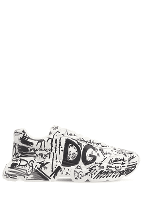 50mm Graffiti Leather Running Sneakers