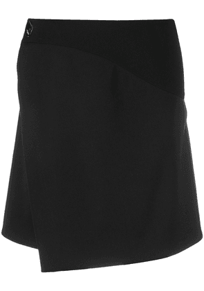 Givenchy wrap-front A-line skirt - Black