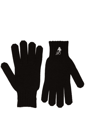 Hand Off Embroidered Wool Gloves