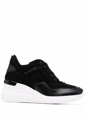 Baldinini wedged lace-up sneakers - Black