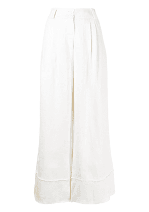 Aje cropped wide-leg trousers - White