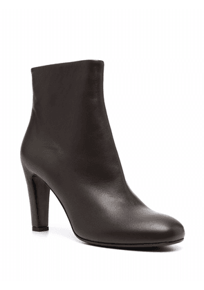 Del Carlo side-zip ankle boots - Brown