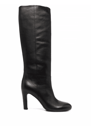 Del Carlo polished knee-length boots - Black