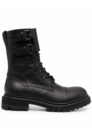 Del Carlo ankle lace-up boots - Black