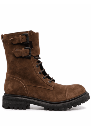 Del Carlo ankle lace-up boots - Brown