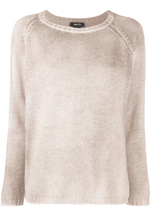 Avant Toi distressed-effect knitted sweater - Neutrals