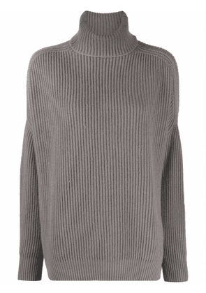 Avant Toi ribbed-knit rollneck sweater - Grey
