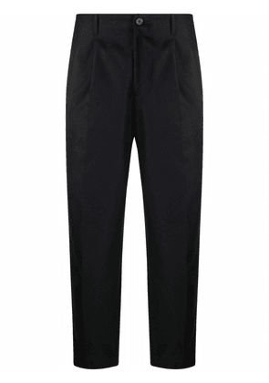 Costumein high-waisted tapered trousers - Black