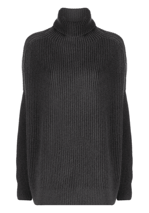 Avant Toi oversized ribbed-knit rollneck sweater - Green