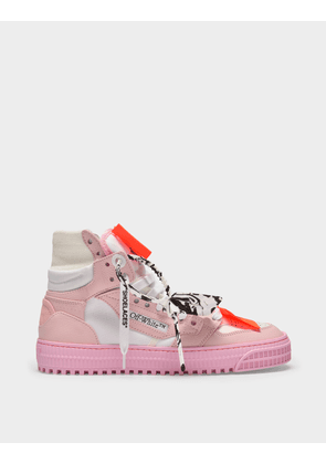 Off-White 3.0 Off Court Sneakers in White and Pink Leather