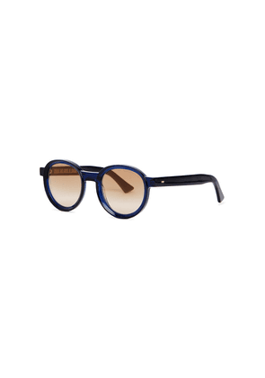 Cutler And Gross 1384 Blue Round-frame Sunglasses