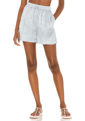Tell Your Friends Lounge Short in Baby Blue. Size L, M, S, XXS.