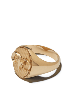 Foundrae 18kt yellow gold Aries signet ring