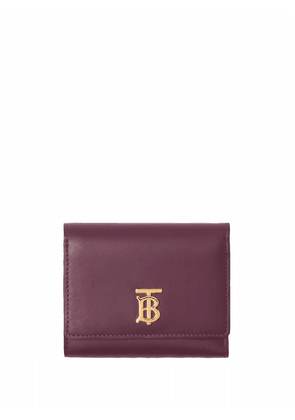 Burberry TB plaque compact wallet - Red