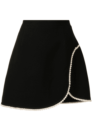 Andrew Gn pearl-piping A-line skirt - Black