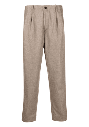 Costumein tapered-leg wool trousers - Neutrals