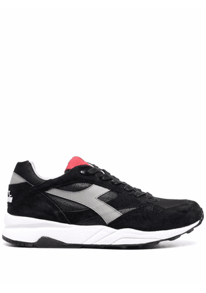 Diadora panelled low-top trainers - Black