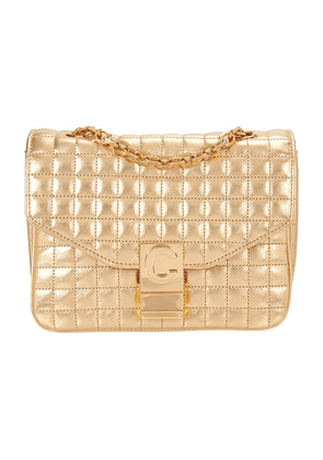 Small C Bag in Laminated Quilted Calfskin
