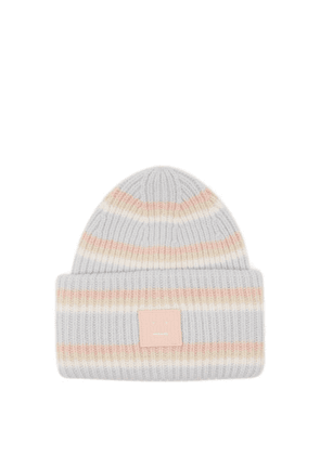 Acne Studios - Pansy Face Wool Beanie Hat - Mens - Multi