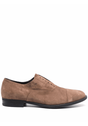 Fratelli Rossetti round-toe suede loafers - Neutrals