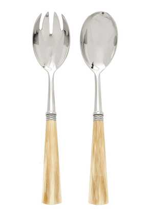 Alain Saint-Joanis - Tonia Stainless Steel and Horn Salad Set - Color: Neutral - Material: stainless and resin - Moda Operandi
