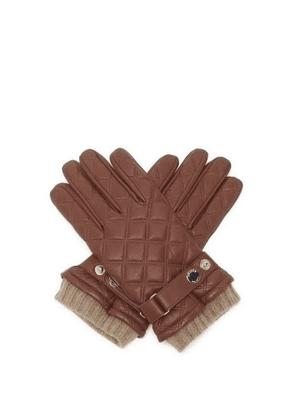 Dents - Saltford Quilted Wool-lined Leather Gloves - Mens - Brown
