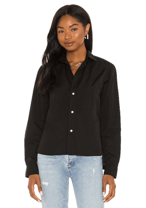 Frank & Eileen Silvio Button Up Top in Black. Size XS, S.