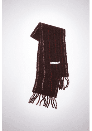 Acne Studios FN-UX-SCAR000163 Wine red Striped boucle scarf