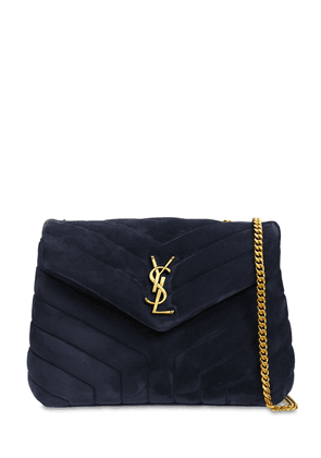 Small Loulou Monogram Quilted Suede Bag